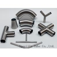 "Buy cheap Equipment Usage Sanitary Valves And Fittings Stainless Steel Tee Welded End 1""x1""x1"" product"