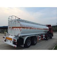 China 8 Wheels 2 Axles Tank Semi Trailer With Landing Gear 2 Manholes And 2 Rooms on sale