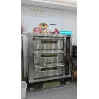 Buy cheap 3 Deck 12 Trays Electric Oven For Baking , Big Glass Door Gas / Electric Deck Pizza Oven product