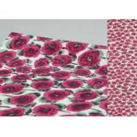 Buy cheap Beautiful Printed Wool Fabric Brown Color For Winter Garment / Boiled Wool Coating Fabric from wholesalers
