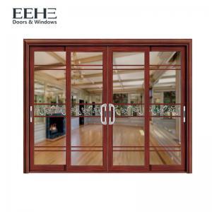 Thermal Break Aluminium Sliding Patio Doors For Commercial Buildings 4 Panel