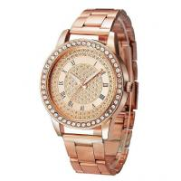 Buy cheap Wholesale Alloy Strap Alloy Round Case Ladies Quartz Watches With a Lots Diamonds from wholesalers