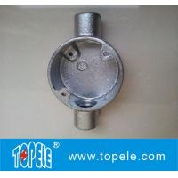 Buy cheap BS4568 Two Way Malleable Iron / Aluminum Circular Electrical Junction Box - Through Way product