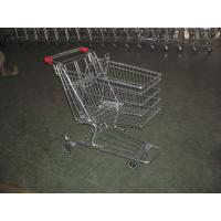 Buy cheap European Type Supermarket Shopping Carts with PU casters , shopping trolley cart product