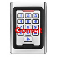 Buy cheap Metal Keypad Stand Alone Proximity Card Reader , IP68 Waterproof Stand Alone Door Access product