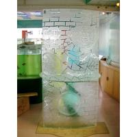 China Ocean Blue Frosted tempered Glass Shower Screen, 8mm 10mm 12mm Acid Etching Glass for screen, TV wall on sale