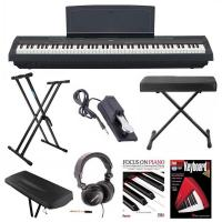 Buy cheap Yamaha P-125B 88-Key Weighted Action (GHS) Digital Piano (Black) Bundle with Knox Double X Stand Knox Wide Bench Sustain product
