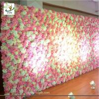 Buy cheap UVG wonderful flower wall backdrop with silk rose and hydrangea for wedding from wholesalers