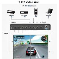 Buy cheap 4K Matrix 4 in 4 out HDMI Switch and support 2*2 video wall and Seamless switch product