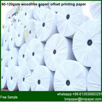 Buy cheap 60gsm 70gsm 80gsm woodfree offset printing paper product