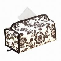 Buy cheap Tissue Box Cover, Made of Fabric, Beautiful and Useful, for Homes product