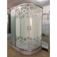 Buy cheap Simple Maple Leaf Shower Cabin With Tray , Bathroom Shower Cubicles product