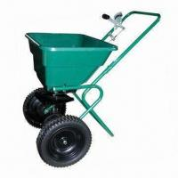 "Buy cheap 60lbs Walk-behind Spreader, Heavy Duty Nylon Gear, 137"" Spread Width, Both Sides are Even product"