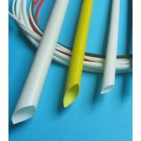 Buy cheap SGS Silicone Rubber Fiberglass Sleeving , Braided Fiberglass Sleeve Extrudgd product