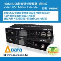 Buy cheap 4K UHD HDMI USB2.0 KVM switch +Matrix console Extender over IP and Fiber Extender product