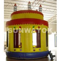 China Onion Dome Cake Commercial Inflatable Bouncers birthday party bounce house on sale