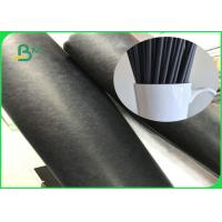 China Biodegradable FDA 80gsm 135gsm Black Straw Food Grade Paper Roll With FSC Certification on sale