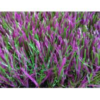 Quality Recycled Garden Artificial Grass Violet 35 Mm Height C Shape Design for sale