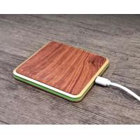 Smart Phone Wooden Wireless Charger 2 - 10mm Transmission Distance Qi Charging Pad