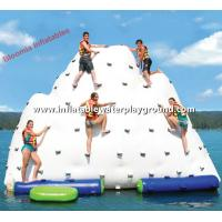China Giant Inflatable Water Iceberg Pool Float , Inflatable Climber For Water Park on sale