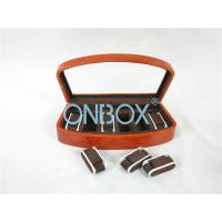 Buy cheap Brown High Gloss Wooden Watch Collection Case With Luxury Adjustable Pillows from wholesalers