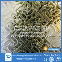 China 4-6 mm decorative titanium mirror acid etched glass from Shahe city on sale