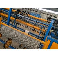 Buy cheap High Efficiency Automatic Chain Link Machine , Galvanized Wire Chain Link Fence Equipment product