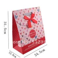 Quality valentine paper bag for valentine gift,cosmatic,jewellery,clothes for sale