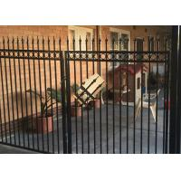 China Powder Coated Automatic Driveway Gates Rot Proof For Home / Countyard on sale