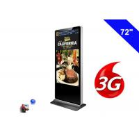 Buy cheap 3G Digital Signage Wifi Shopping Mall Kiosk 72 Inch LCD Advertising Screen Panel product