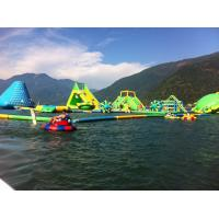 Buy cheap Durable 0.9mm PVC Tarpaulin Giant Inflatable Floating Water Park With Tower And Slide from wholesalers
