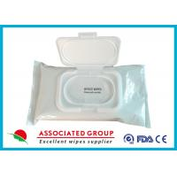 Buy cheap Pre Moistened Spunlace Towels Antibacterial Hand Wipes For Cleaning / Deodorizing Surfaces product