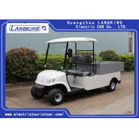 Buy cheap 2 Seaters Electric Car , Electric utility carts 48V/3KW With Bucket 80km range for hotel product