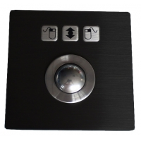 Buy cheap Anti Vandal IP67 Dynamic Stainless Steel Optical Trackball PS2 product