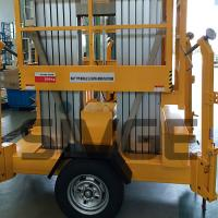 Buy cheap Aluminium Alloy Trailer Mounted Aerial Work Lift Platform With 8m Platform Height from wholesalers