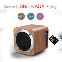 China Wooden Outdoor Bluetooth Speakers Rechargeable Bluetooth Speaker with Mp3 Playback on sale