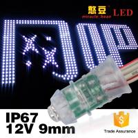 Buy cheap Led Exposed Light Inventor Waterproof IP67 F5 0.12W Single Color DC12V Led Pixel Light 9mm from wholesalers