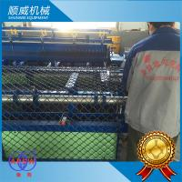 Buy cheap 2 Meters Width Chain Link Fence Machine Bule And Green Colour 220 / 380V from wholesalers