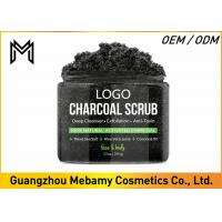 Facial Skin Care Body Scrub , Charcoal Coconut Oil Body Scrub BlackheadsTreatment