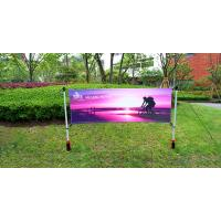 Buy cheap Advertising Outdoor Banner Stands With Spike / Twist Custom Width Height product