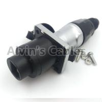 Buy cheap Round Ethernet Waterproof RJ45 Connector Female And Male Gender 500V Rated Voltage product