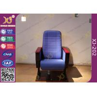 Buy cheap Cross Line Back Auditorium Chair Seating For Conference / Church Hall product