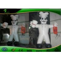 Buy cheap Attractive PVC Tarpaulin Inflatable Cartoon Characters White Inflatable Chef Costume product