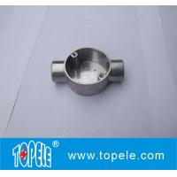 Buy cheap TOPELE 20mm / 25mm BS4568 / BS31 Electrical Two Way Circular Angle Aluminum Junction Box, Electrical Conduit Fittings from wholesalers