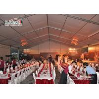 Buy cheap Custom Big Outdoor Event Tents White Party Tents With Tables Chairs Wedding Tent product