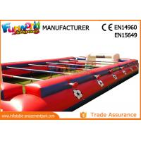 China 0.55mm PVC Tarpaulin Inflatable Outdoor Games Human Table Football Inflatable Interactive Games on sale