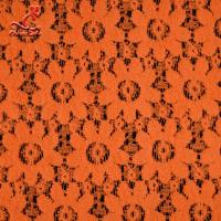Buy cheap Soft Fancy Burnt Orange Embroidered Lace Fabric For Saree Clothes from wholesalers