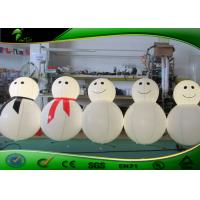Buy cheap Cute Inflatable Holiday Decorations / Inflatable Snowman Cartoon With LED Light product