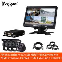 Buy cheap 4CH SD MDVR 720P 960P Car DVR System Dome Indoor Camera CMSV6 Server With Microphone product