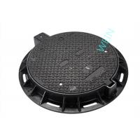 Buy cheap EN124 Standard Round Cast Iron Manhole Cover For Municipal L Construction product